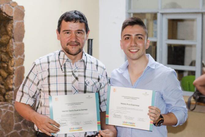 Ganadores de concurso de emprendimiento del Municipio de Envigado en el año 2017